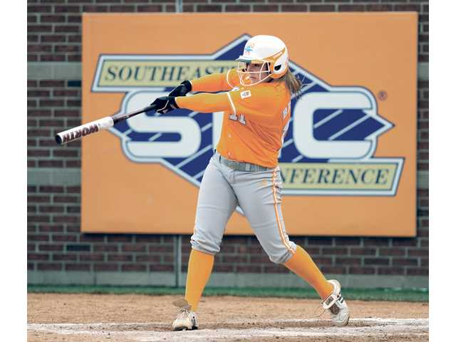 Hart High graduate Melissa Brown and Tennessee open the Women's College World Series today against Arizona.