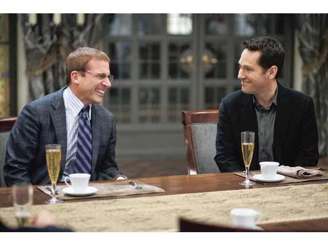 "Steve Carell and Paul Rudd in a scene from ""Dinner for Schmucks,"" which opens July 23."