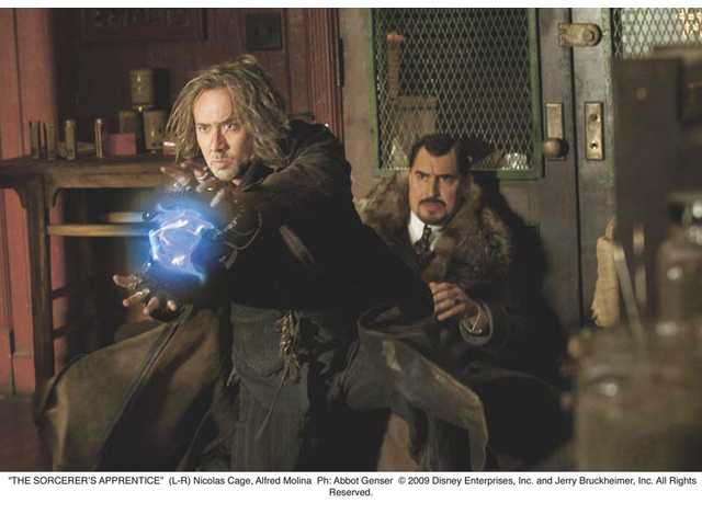 "Nicolas Cage and Alfred Molina in ""The Sorcerer's Apprentice,"" which comes out July 16."