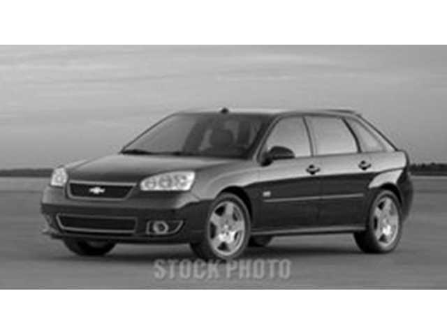 The vehicle that was used by suspect David Galvan during this incident was a 2005 Chevrolet Malibu MAXX, dark gray in color, similar to the one pictured here.
