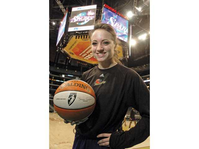 Hart High graduate Taylor Lilley played in a WNBA game at the Staples Center on Tuesday against the Los Angeles Sparks. She played just two minutes, but the undrafted free agent defied the odds by making the Phoenix Mercury.