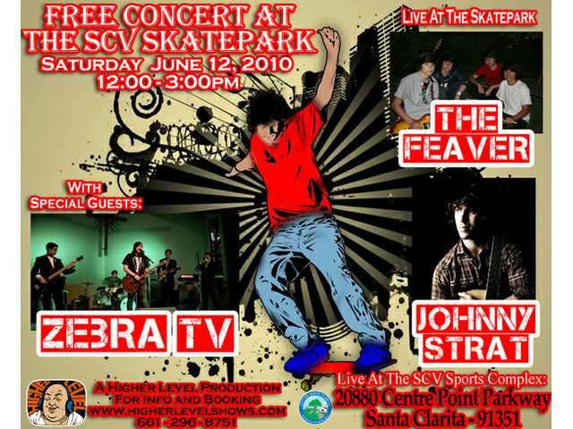 Free concert at Santa Clarita Skate Park tomorrow
