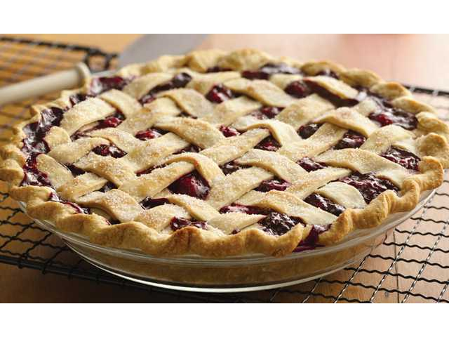 Three-berry pie