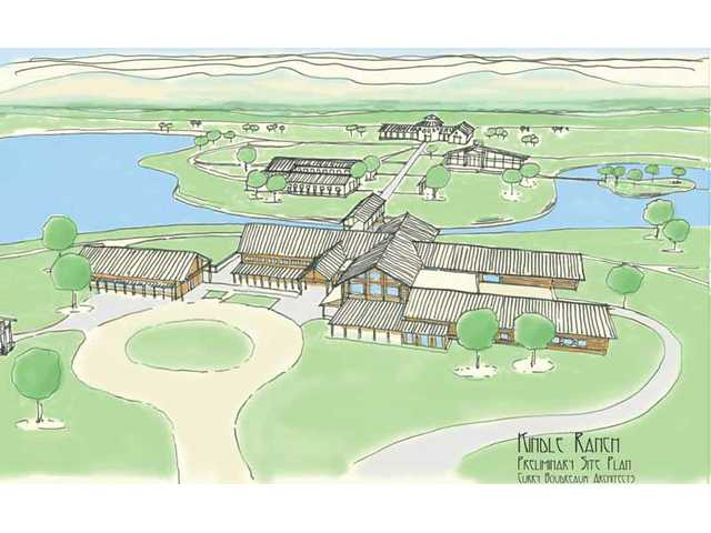 An artist's conception of Kindle Ranch's proposed 40-acre site, which includes a 20-acre buffer. Kindle Ranch, a nonprofit that aims to help disable children, hopes to open a facility in the Santa Clarita Valley that would be a year-round destination for other nonprofits statewide.