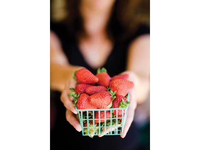 Strawberries from Rancho Camulos, a produce stand located off of Highway 126 in Fillmore.
