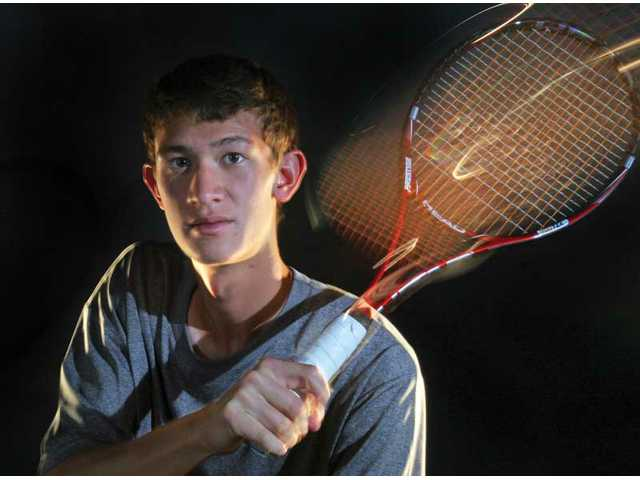 Valencia's Tyler Gottshall went undefeated in Foothill League play in 2010. He teamed with Ben Inchalik  for the postseason and tied for the deepest run of any team in Santa Clarita Valley history, making it to the CIF-Southern Section Division II quarterfinals as a doubles team. Gottshall is our co-All-Santa Clarita Valley Boys Tennis Singles Player of the Year.
