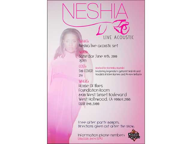 Neshia performs at House of Blues June 19