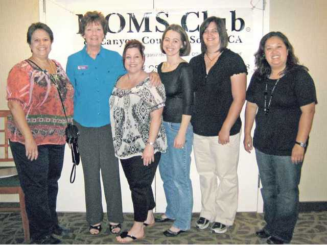 The 2010 MOMS Club of Canyon Country South board of directors includes (from left to right) Colleen O'Lear (acting president); Mary Ree (president);  Kristina Waldron (co- membership vice president); Tiffany Mitchell (secretary); Elena Plunk (treasurer) and Mary Moylan (co-membership vice president).