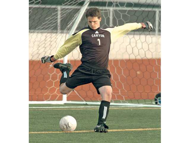 Canyon goalkeeper Andrew Wilson was named the Foothill and All-SCV boys soccer player of the year in 2009-10 and led the Cowboys to their deepest playoff run ever.