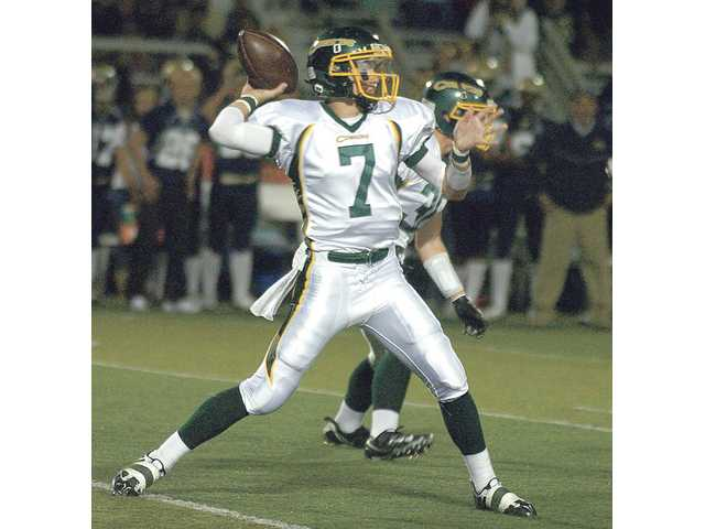 Canyon quarterback Jonathan Jerozal had a strong debut in 2009.