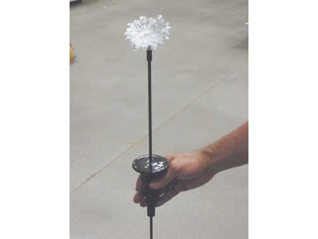 All items available from Lowe's in Saugus. Solar-powered light with a flower-shaped bulb is $9.99. Just stick it in the ground.