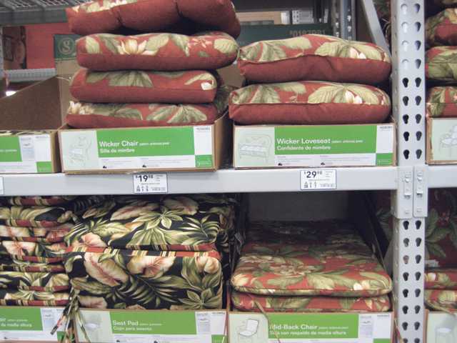 Patio chair cushions.