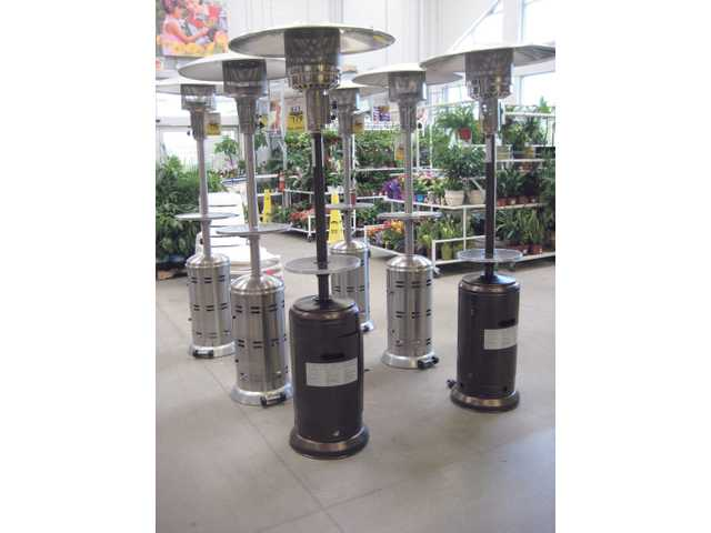 When it cools down at night, keep things warm with portable gas-powered outdoor heaters/tables, also available at Lowe's in Saugus for $179 each.