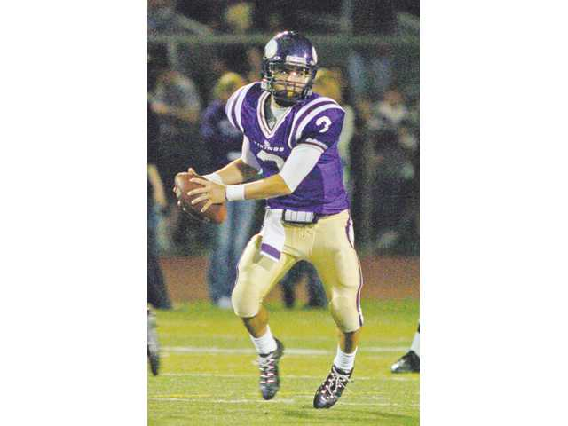 Valencia quarterback Alex Bishop was the Foothill League Player of the Year and set a California state record by completing 78.4 percent of his passes in the regular season. The Vikings finished undefeated during the regular season en route to their first league title since 2004.
