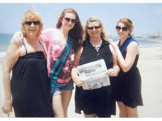 Billie Terwilleger, daughter Terri Ramsey and granddaughters Carly and Taylor Ramsey hit the beach in Mazatlan, a stop on their Mexican Riviera cruise during spring break.