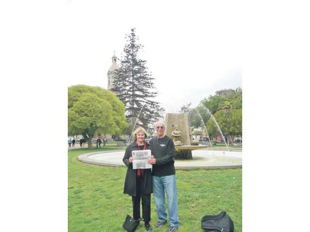 Jim Lentini and his wife visited the park in La Serena, Chile, the South American nation's second oldest city.