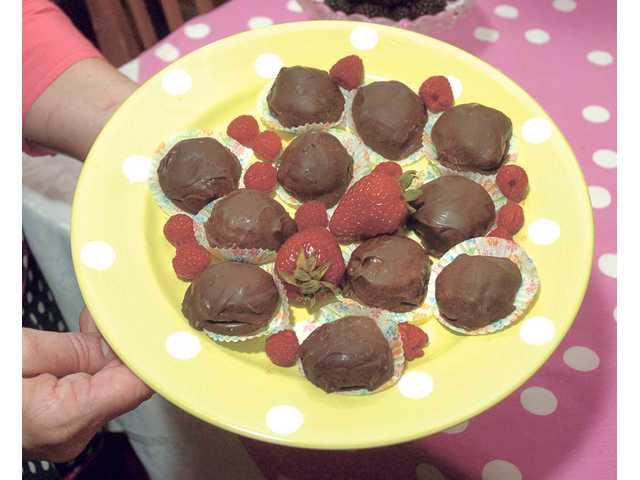 Berry good truffles satisfy chocolate lovers.