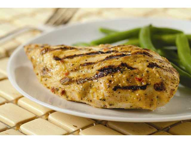 Grilled herbed chicken