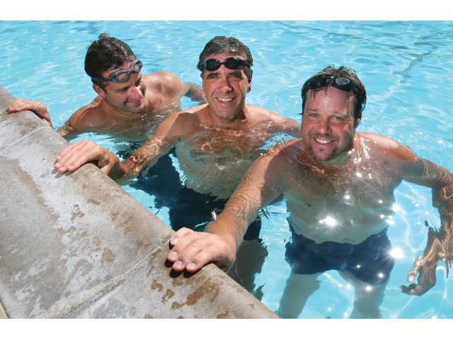 Local swimmers Mike Vovk, David Hartmire and Chris Dahowski will attempt to become part of the first relay team to successfully swim to Santa Catalina Island and back.