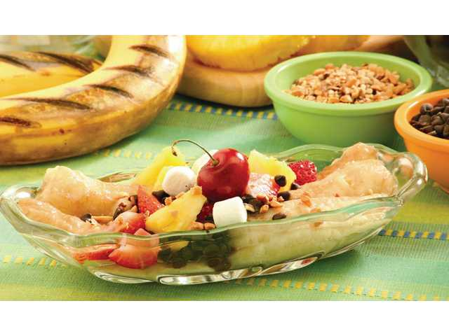 Grilled Banana Split
