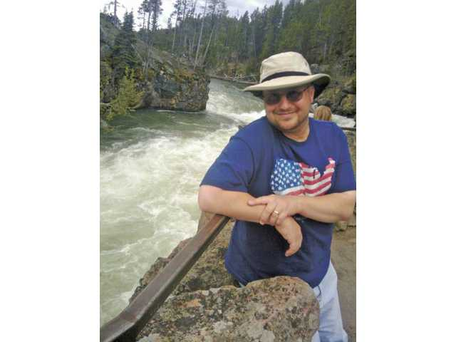 Robert Tilles at the Upper Yellowstone Falls.
