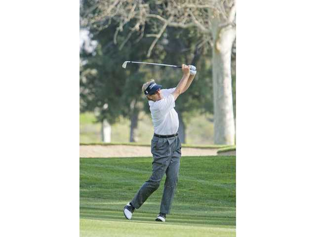 Dan Forsman, 2009's AT&T Champions Classic winner, plays golf at the Valencia Country Club in March of 2009.