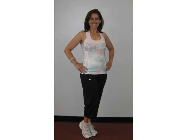 Cheralyn Goekeritz six months after she began exercising.