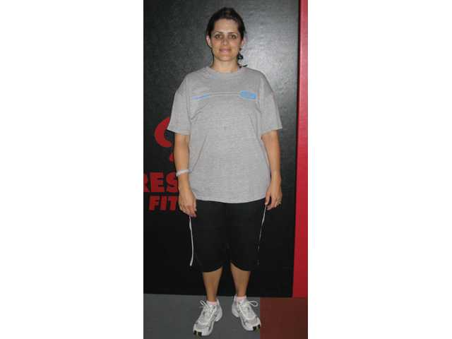 Cheralyn Goekeritz, before she began exercising.