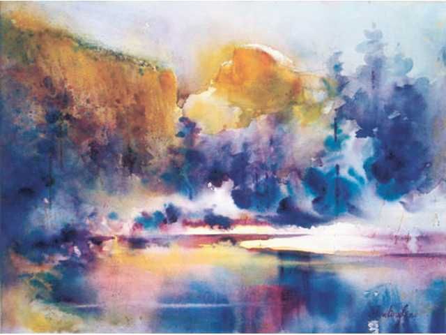 """Fealing Lin's watercolor landscape """"Frosting Half Dome"""""""