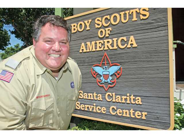 New Bill Hart District Executive Jeff Prata outside the Boy Scouts of America Santa Clarita Service Center. Prata, of Canyon Country, was named the new district executive after a seven-month application process. He hopes to increase the number of Scouts in the Santa Clarita Valley.