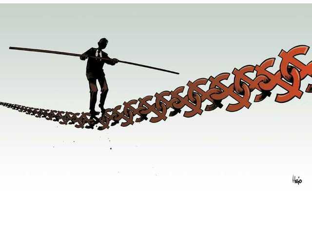 Tight-rope walking