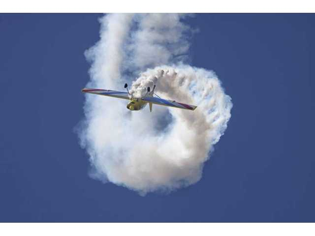 "Rob Harrison, ""The Tumbling Bear,"" will be flying aerobatics in his Zlin 50LS at both the Santa Paula and Camarillo air shows."