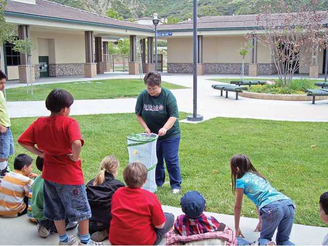 Andrea Quitt, a second-grade teacher at Fair Oaks Ranch Community School, releases the classroom's butterflies. The butterflies were released in May after the students witnessed their growth from caterpillars.