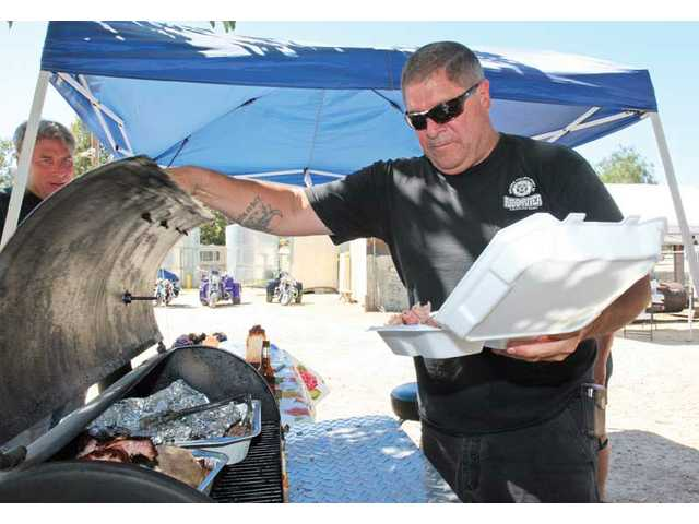 Newhall resident Nathan Quick received third place for his pork shoulder at the BBQ Cook Off event at the VFW Post 6885 in Canyon Country on  Saturday afternoon. All money collected at the event is going toward the remodeling of the posts' kitchen.