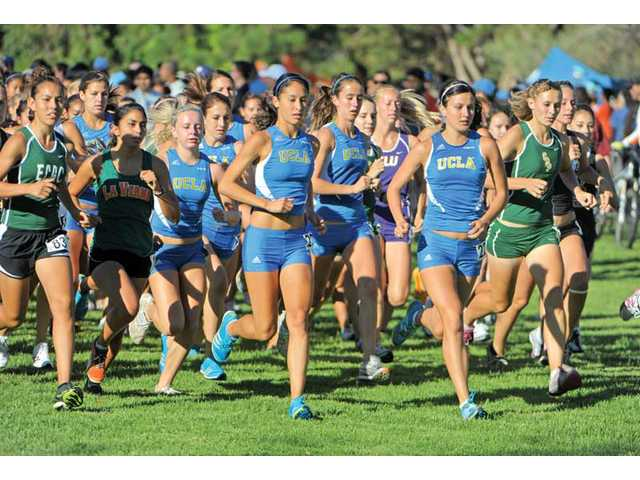 Former Saugus star Shannon Murakami (far right UCLA runner) is a team captain for the Bruins and hopes to earn All-American honors to finish her college cross country career.