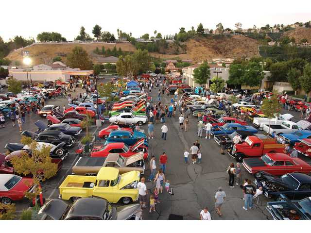The event coincided with a classic car show, which featured cars from Hollywood, such as the Batmobile.