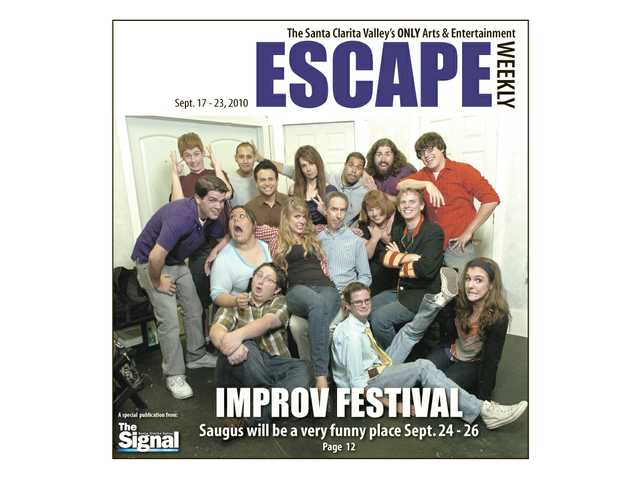 The Improv Festival is coming to Saugus next weekend, with improv workshops and many talented performers. Some of these include: Front row, from left, Mike Marsalisi, Cameron Rose and Katie Meyer; middle row, Kevin Darga, Christina Gonzalez, Nikki Santino, Allan Trautman, Denise Koek and Kevin Rae; back row, Daniel Stewart, Steven Huerta, Joaquin Garay, III, Shelley Pack, J.R. Cruz, Brandon Cabrera and Aaron Wong.