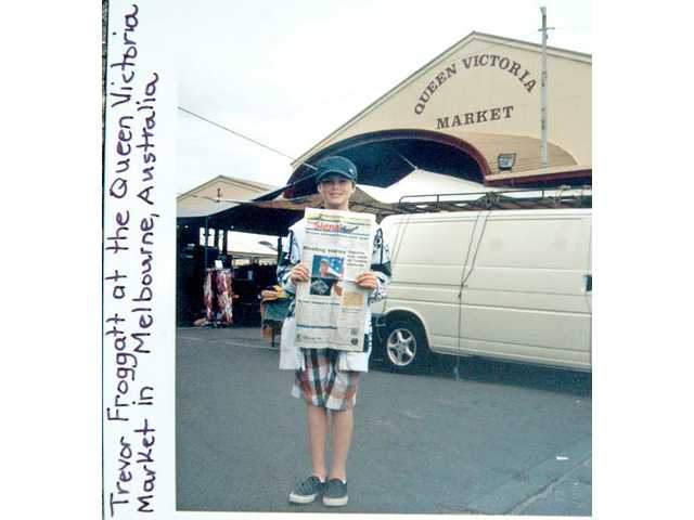 Trevor Froggatt stands in front of the Queen Victoria Market in Melbourne, Australia.
