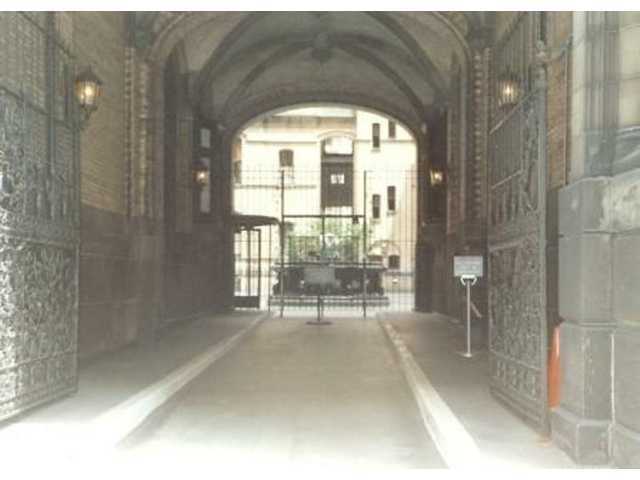 The entrance to the Dakota apartment building at 1 West 72nd Street in Manhattan is where John Lennon was murdered Dec. 8, 1980. He was 40.