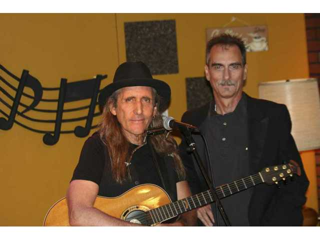 "Songwriter-singer Jesse Barish, pictured with ""House Blend"" host Stephen K. Peeples, has two BMI million-played songs among the 600+ in his canon. Barish sings his ""Count on Me"" (a hit for Jefferson Starship) and ""Same Old Song and Dance"" from the imminent album ""Restless Soul"" on SCVTV tonight at 10."