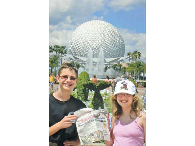 Kenneth and Becky Eernisse, of Valencia, went to Disney World over spring break with their parents Dale and Janice (who took the photo). They visited all six of the parks.