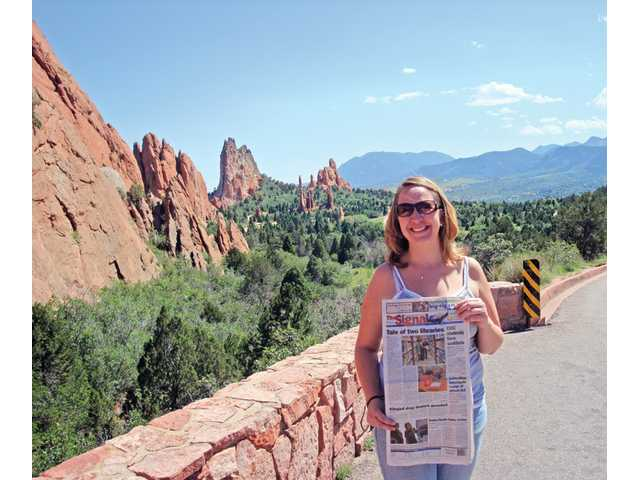 Erin Hitchcock, of Valencia, visited Garden of the Gods in Manitou Springs, Colo.