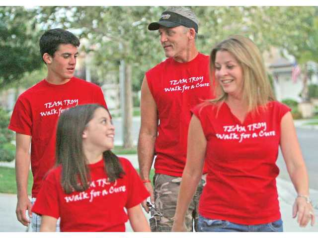 The Blumenthal family, of Valencia — clockwise from top left: Troy, Dennis, Lori and Rachel — will take part in the Step Out: Walk to Fight Diabetes at Bridgeport Park on Oct. 16