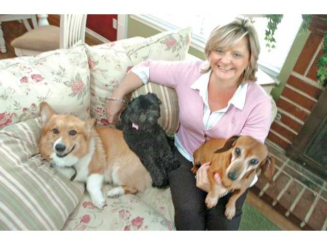 "Galbreath with her ""chemo buddies"" (from left, Einstein, Tiffany and Pixie) who kept her company as she recovered."