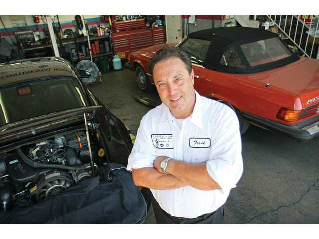 Continental Motorcars owner Frank Cervetto has been in the automotive business for 34 years. He opened his own shop locally next to Saugus Cafe about 12 years ago. He also races cars, most recently placing second at the Coronado Speed Festival last month.