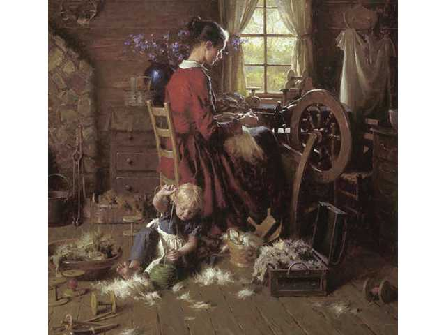 """A Helping Hand,"" a limited edition giclee canvas by Morgan Weistling."