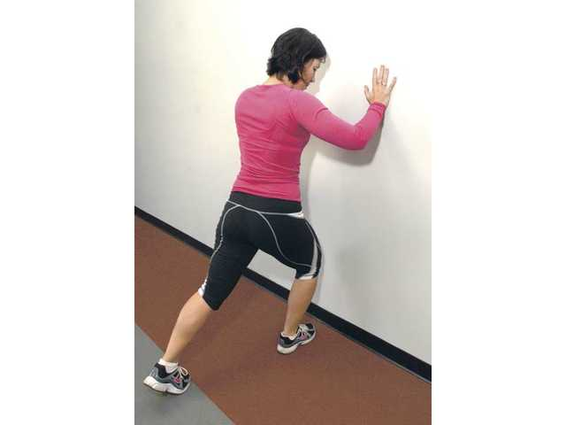 Ankle-mobility stretch.
