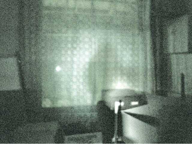 """This photo of a """"shadow man"""" was taken upstairs at the Saugus Train Station at Heritage Junction by Bridget Odien, an investigator for the American Paranormal Research Association of Bakersfield."""