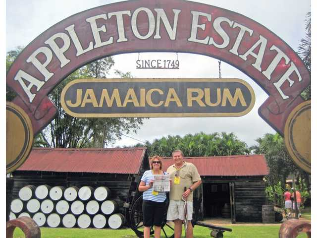 While on a familiarization trip sponsored by the Jamaican Tourist Board, Gary and Marilyn Saxton visited the Appleton Estate in Nassau Valley, Jamaica, where 20 rums have been distilled since 1749.