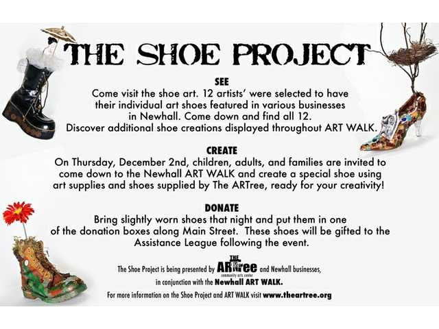 The ARTree Community Arts Center calls for artists to contribute works of art using shoes. The deadline is Nov. 20.
